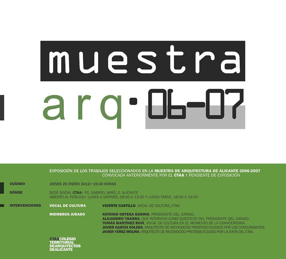 Arquitectura Alicante. Proyectos de Arquitectura. Arquitectos Alicante. Vivienda Unifamiliar. Edificios de viviendas