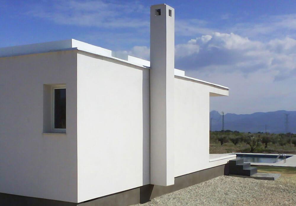 Vivienda unifamiliar de nueva construcción en Onil. Estudio de Arquitectura Alicante.