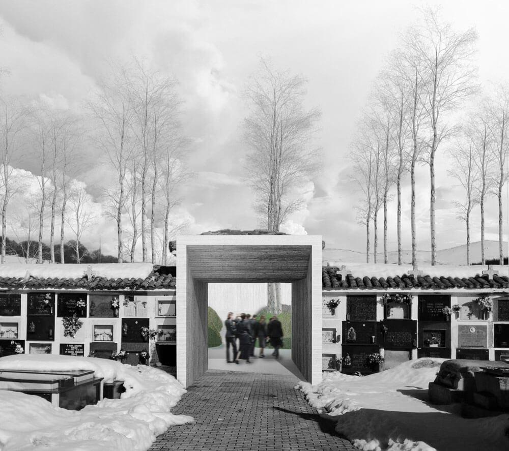 Ampliación cementerio. Arquitectura funeraria.