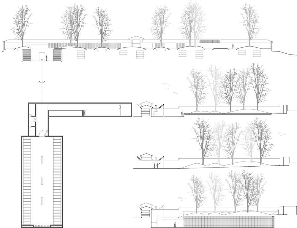 Ampliación de Cementerio. Arquitectura funeraria. Arquitectos Altea.