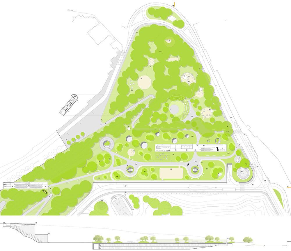 Urbanización. urbanismo y Diseño urbano. Arquitectura Alicante. Jardinería y Paisaje.